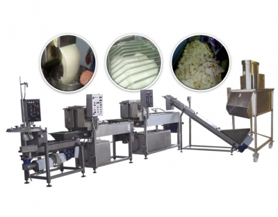 Complete line of Kasseri cheese mass processing