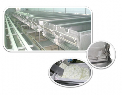 Unit reduction machines (cheese-vats) for the production of traditional feta cheese P-1000